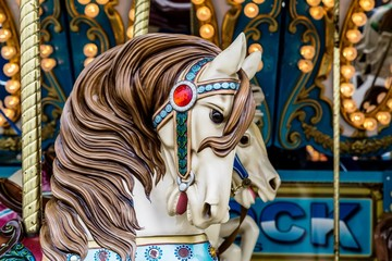 Horse closeup for Carousel ride