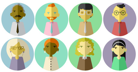 Flat Office people avatars