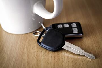 Car Key on a Table