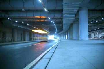 Guangzhou road light trails