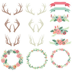 Wedding Flower Antlers