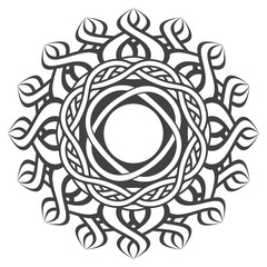 Mandala in esoteric style. Decorative elements for your design. Fashionable tattoo.