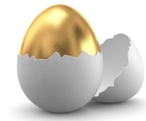 3d goldenes Ei