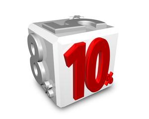 消費税10% / 消費税が5%から8%になり10%に