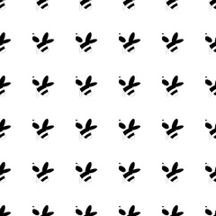 Honeybee monochrome seamless pattern