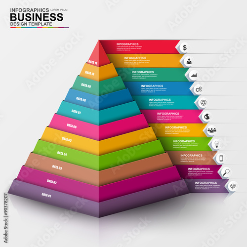 infographic pyramid vector design template stock image and royalty