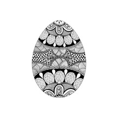 Zentangle stylized black Easter Egg. Hand Drawn vector illustrat