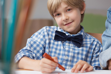 Young artist drawing picture