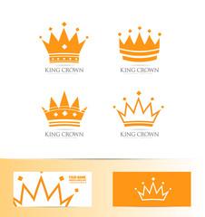 King crown logo icon set