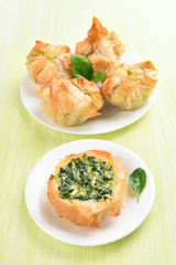Baking with spinach