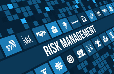 Risk Management concept image with business icons and copyspace. Wall mural