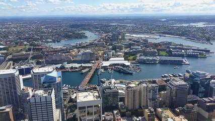 Vue de Sydney depuis la Sydney Tower, Australie