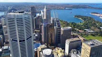 Fototapete - Sydney city depuis La Sydney Tower, Australie