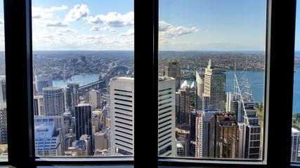 Fototapete - Vue de Sydney depuis les fenêtres de la Sydney Tower, Sydney, Australie