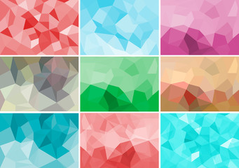 Abstract geometrix background colorful collection set.
