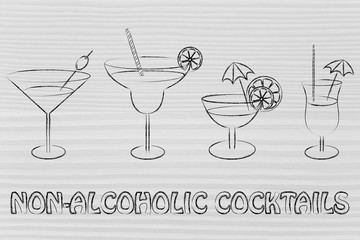 non-alcoholic cocktail recipes illustration