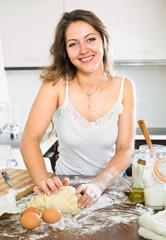 Housewife preparing breakfast