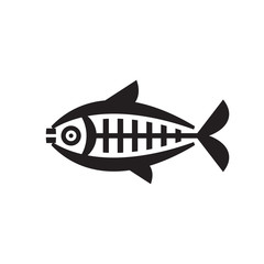 Fish - vector logo sign concept illustration. Vector logo template. Design element.