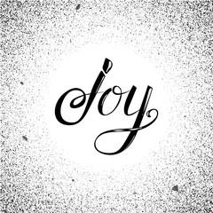 Vector calligraphy Joy message