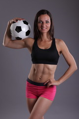 girls body with ball