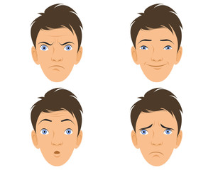 Four human faces