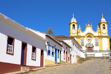 Colonial Houses and Church - Historic Town of Tiradentes (UNESCO