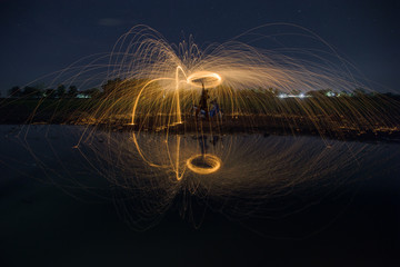 Steel wool stock photo awesome reflection