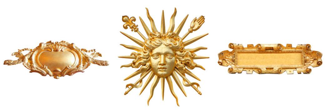 Versailles (France) / Roi soleil et cartels dorés