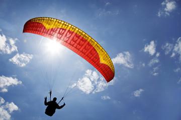 Wall Murals Sky sports paraglider