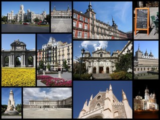Madrid, Spain - photo collage