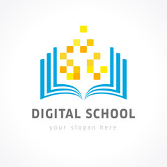 digital school color logo