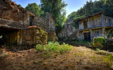 Verfallenes galizisches Dorf
