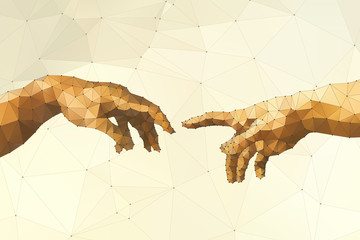 Wall Mural - Abstract God's hand vector illustration