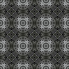Seamless pattern with abstract motives. Seamlessly repeating ornamental wallpaper or textile pattern with hand drawn abstract motives.
