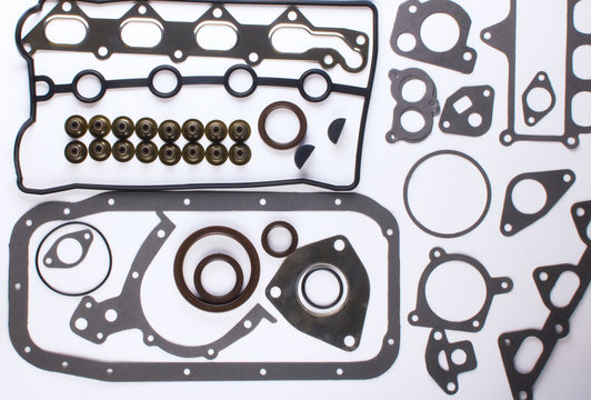 gaskets for motor on a white background