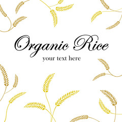 grain organic natural product on white background, concept vector illustration