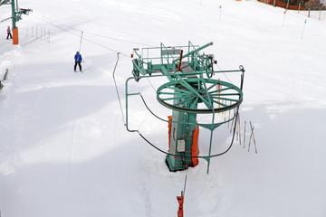 Famous ski center Soldeu city snow covered, Andorra