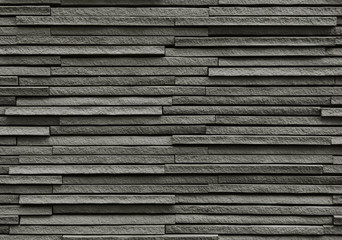 Black bricks stone