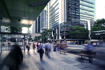 Brisbane city pedestrians