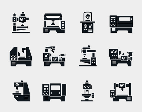 Vector machine tool icons set