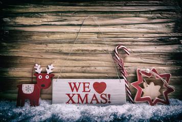 weihnachtliche karte mit schnee