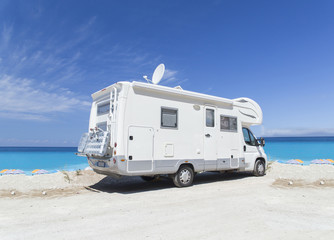caravan sea, summer holidays