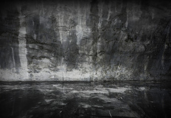 Old grunge cement room background