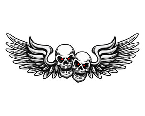twin skull flying