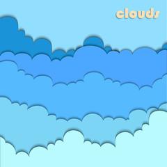 clouds cut from paper