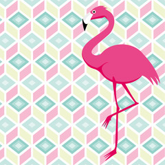 colourful Flamingo Pattern