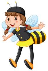Girl in bee costume