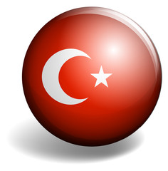 Turkey flag on badge