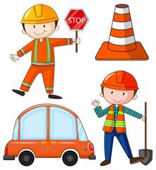 Flashcard of construction theme