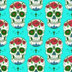 Sketch mexican skull